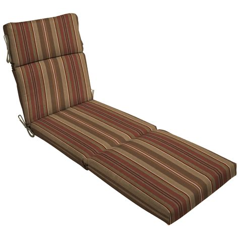 lowes chaise cushions shop stripe chili patio chaise lounge cushion at lowes com