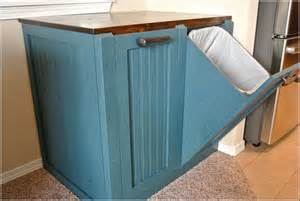 Kitchen Trash Bin Cabinet by Wooden Trash Bin Cabinet Home Design Ideas