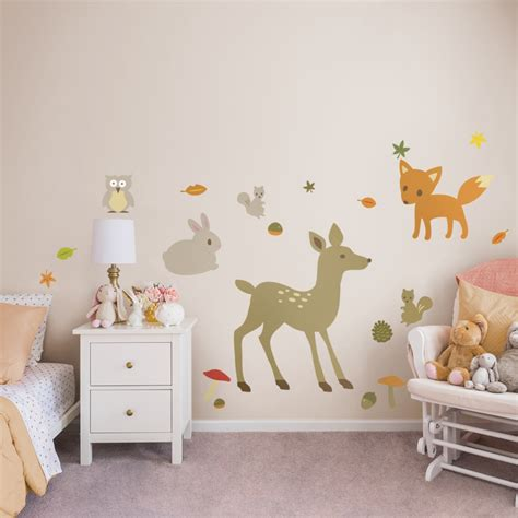 nursery woodland theme collection x large removable