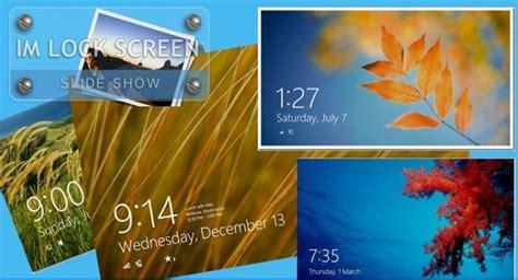 rotate lock screen background  windows