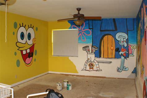 Bathroom Ideas Green sponge bob playroom mural