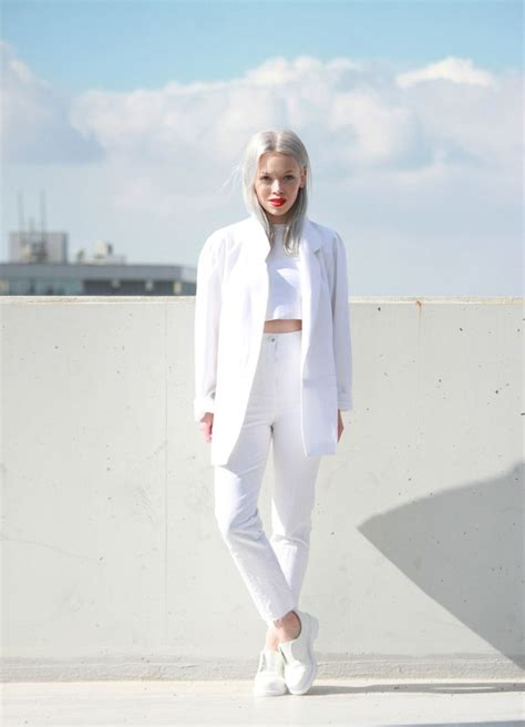 vestida de blanco all dressed in white edition books 30 looks de blanco total para el verano cut paste