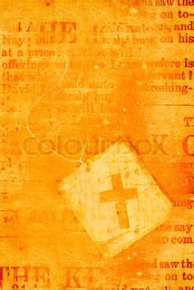 close up of an old holy cross | stock photo | colourbox