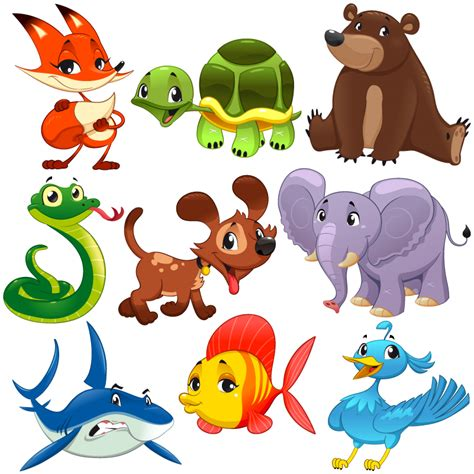 Banner Safari Hewan nine animal design vector free vector graphic