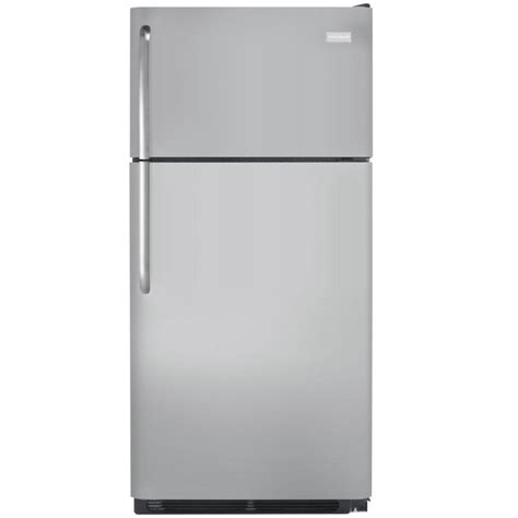 frigidaire 18 cu ft top freezer refrigerator in silver
