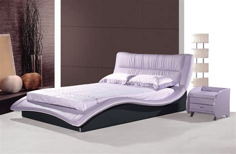 best designer furniture modern luxury white double leather bed with crystals