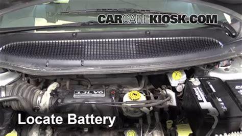 2001 dodge caravan battery battery replacement 2001 2004 dodge caravan 2003 dodge