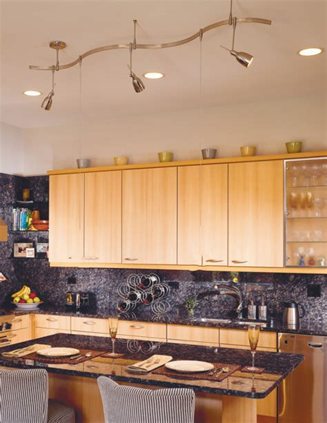 Track Lights In Kitchen Kitchen Track Lighting Casual Cottage