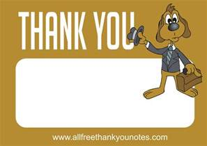 all free work thank you notes and thank you cards