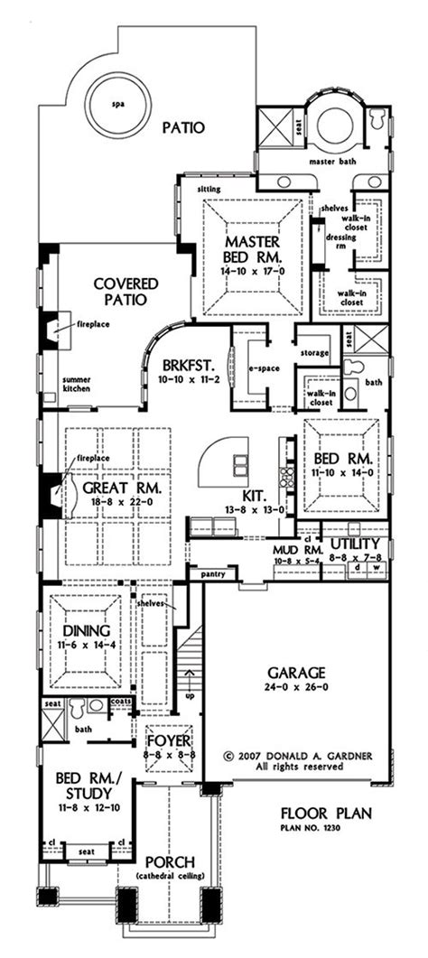 narrow lot house plan plan of the week small ranch large bungalow this week we re featuring an open concept ranch