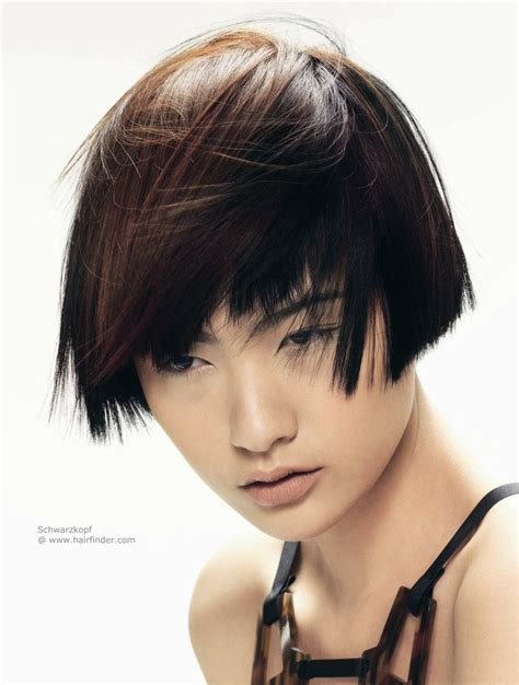 hair cut for jawlines ear length asian hairstyle with a short cropped neck and