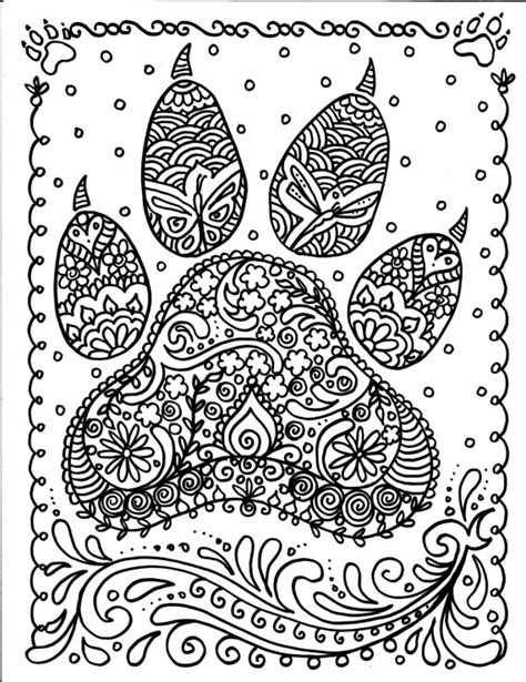 coloring pages of dog prints instant download dog paw print you be the artist dog