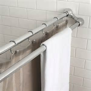 splash home dual tension shower curtain rod by splash home