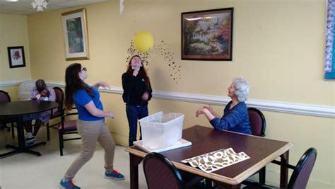 student ambassadors visit local nursing home grass