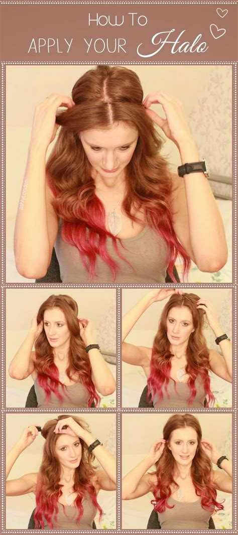 halo hair how to put in 17 best ideas about halo hair extensions on pinterest