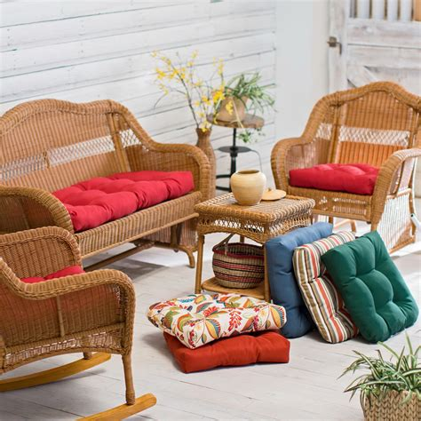 wicker settee cushion wicker settee cushions outdoor home design ideas