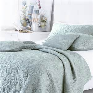 sashi bed linen riviera 100 cotton embroidered quilted
