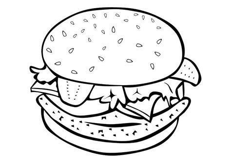 burger king coloring pages kleurplaat hamburger afb 10108
