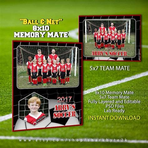 soccer team template soccer sports memory mate template for photoshop by
