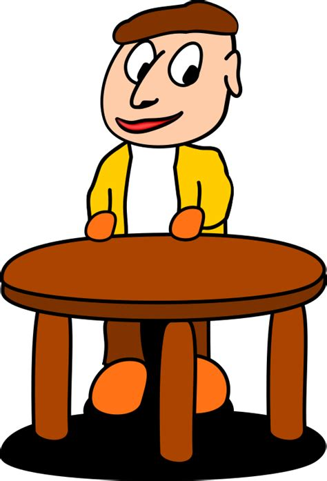 At The Table clipart standing at the table