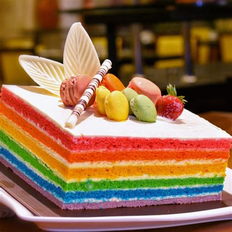 dissert food rainbow cake at chatter lounge food foodie foods