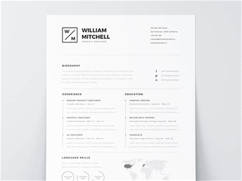 Cover Letter Template Illustrator Free Resume Template Psd Ai By Mats Forss Dribbble