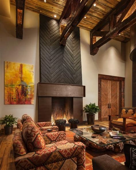 ladder rustic architecture warm interior design living impressive rustic living room ideas for warm and
