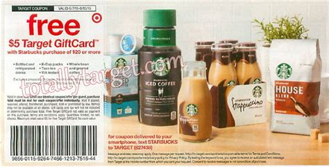 Target Gift Card At Starbucks - free 5 target gift card wyb 20 on starbucks products starting 6 7 matchups deal