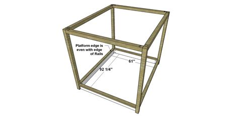 how to build a canopy bed free diy furniture plans how to build a sized