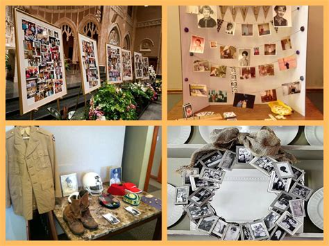 photo collage at home 8 ways to personalize a funeral