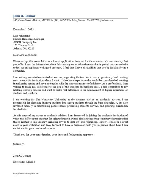 free export sales manager cover letter promotion cover