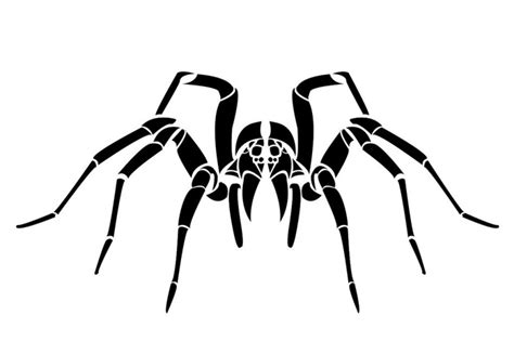 tribal spider looking at you tattoo design by kindlingtaco