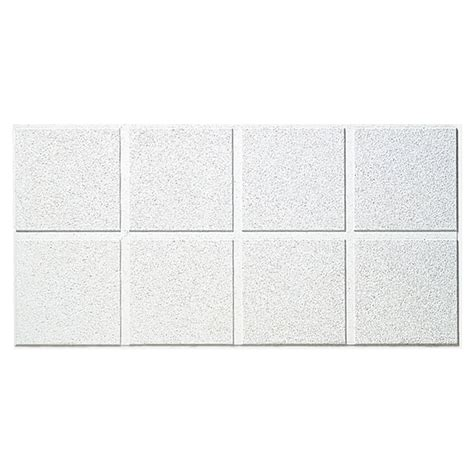 Armstrong Second Look Ceiling Tile by Shop Armstrong 48 Quot X 24 Quot Cirrus Second Look Beveled Ceiling Tile Panel At Lowes