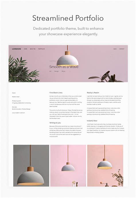 wp themes london london minimalist contemporary portfolio wordpress theme