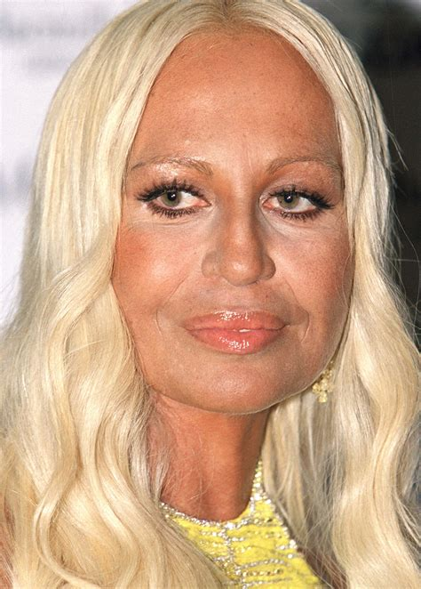 Donatella Versace by See Donatella Versace S Shocking Transformation Right