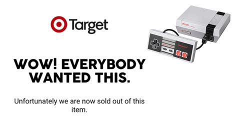 snes classic mini saldr 237 target is now sold out of nes classic mini and aren t happy
