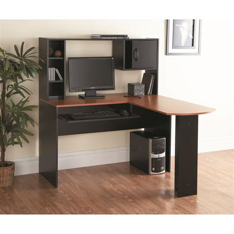 L Computer Desk With Hutch Mylex Computer Desk With Hutch L Shape Desk With Hutch Minimalist Desk Design Ideas