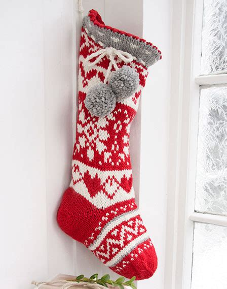 knitting pattern for christmas stocking uk sweet treasures fair isle stocking knit pattern knitting bee