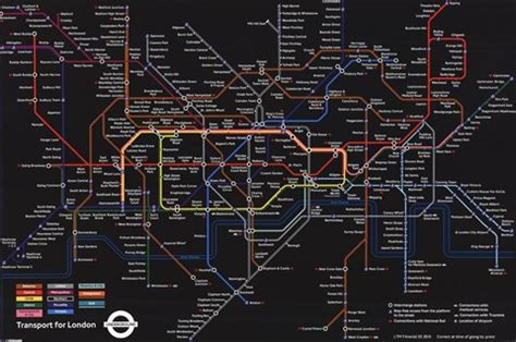 london underground black map wall poster  unknown