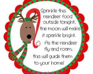 Christmas address labels reindeer food preppy christmas round labels
