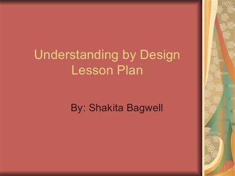 understanding by design understanding by design lesson plan pp