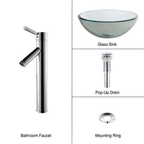 14 inch bathroom sink kraus 14 inch x 5 5 inch x 14 inch circular glass bathroom