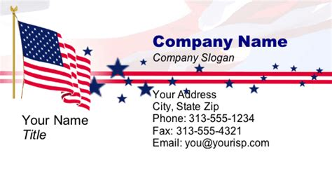 American Flag Business Card Templates Free by Patriotic Business Card