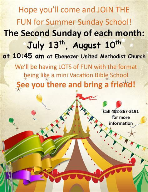 Elmwood Newsletter 07 02 2014 Sunday School Flyer Template