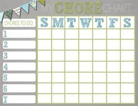 Chore Templates chore charts