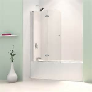 Trackless Bathtub Shower Doors Dreamline Aquafold 36 Inch Frameless Hinged Tub Door