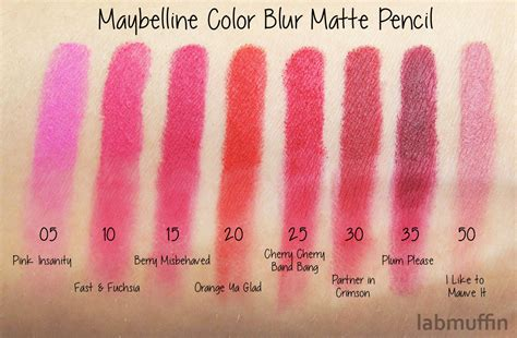 Lipstik Maybelline Color Blur maybelline color blur matte pencil swatches and review