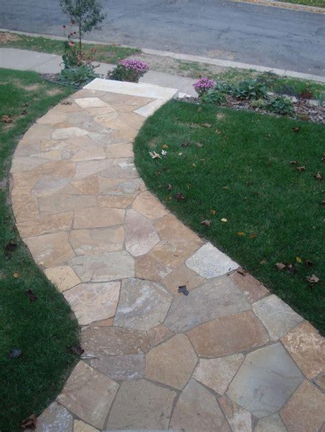 desert bronze flagstone walkway landscape