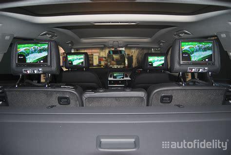rear seat entertainment preparation audi alpine 7 inch integrated four headrest screen rear seat