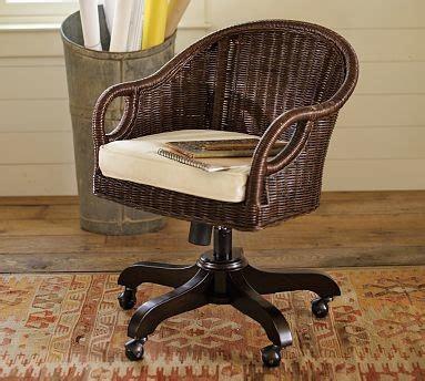 wingate rattan swivel desk chair espresso stain cushion